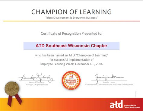 atd design learning certificate sewi atd chion of learning certification