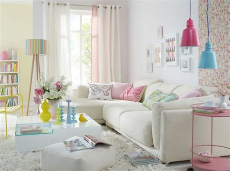 Pastel Decorating Ideas by Colorful Pastel Living Room Interior Design