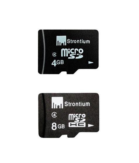 Strontium Microsd Card strontium 8gb microsd 4gb microsd card class 4 memory cards at low prices snapdeal