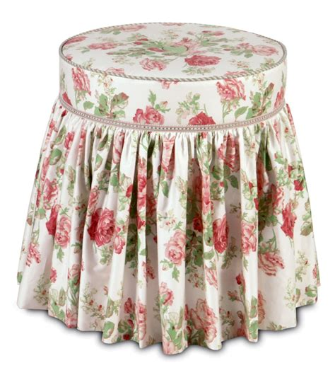 vanity stool with skirt vanity chair with skirt in floral pattern