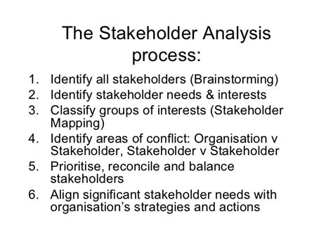 Reconciling With Nature Essay by Stakeholder Analysis