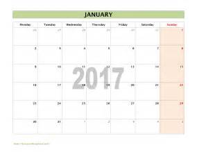 Monthly Calendar Template Word by 2017 Calendar Templates Freewordtemplates Net