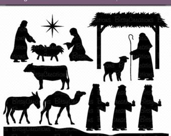 large printable nativity scene nativity scene silhouette printable www pixshark com