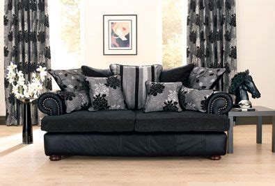 cushions for a black leather couch classy looking living room without the horse head using