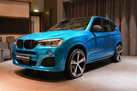 bmw x3 blue beautiful bmw x3 with m sport package and tuning accessories