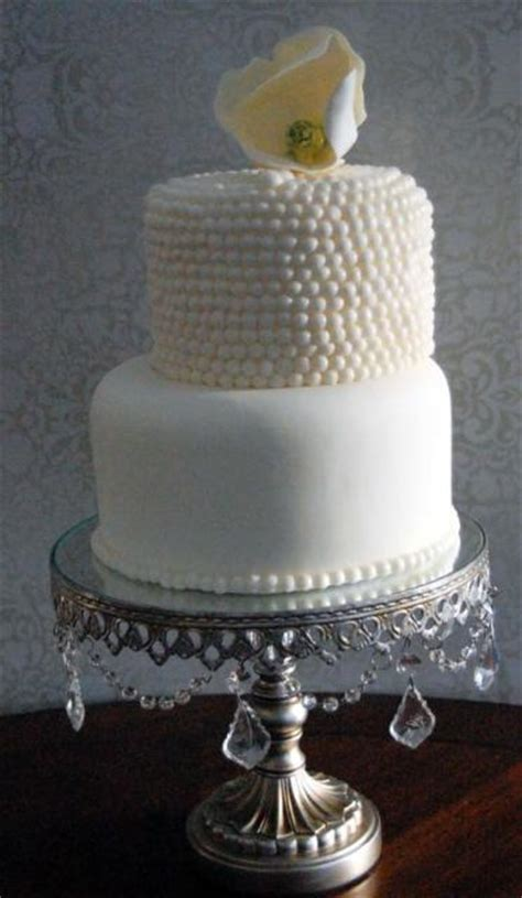 white 2 tier wedding cake 2 tier white wedding cake with pearl beaded second