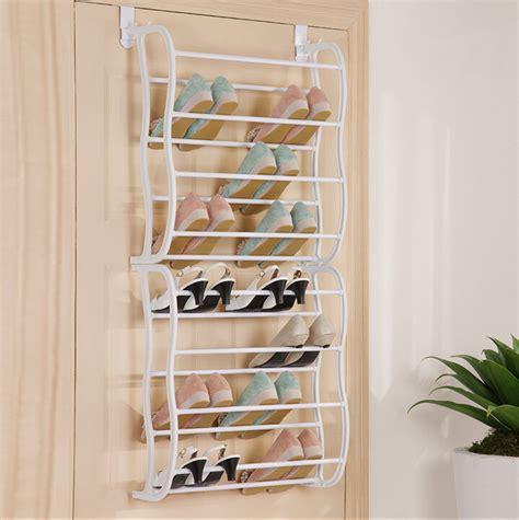 white hanging shoe rack behind the door ideas multilayer composite door shoe rack white 12 layer wall