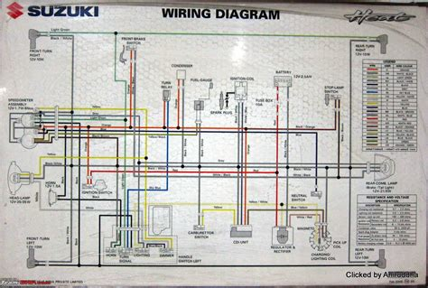 circuit diagrams of indian motorcycles and scooters team bhp
