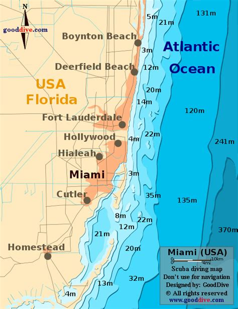 miami map miami map gooddive
