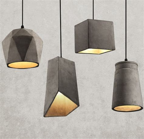 suspended light fixtures industrial loft style vintage cement droplight edison