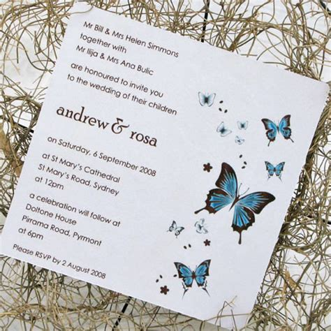 wedding invitations butterfly butterfly theme wedding decoration your wedding