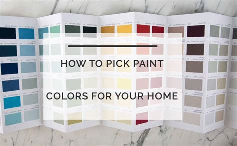 how to pick a paint color how to pick paint colors for your home