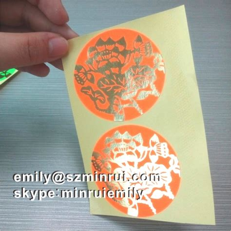 custom fluorescent color paper stickers embossed