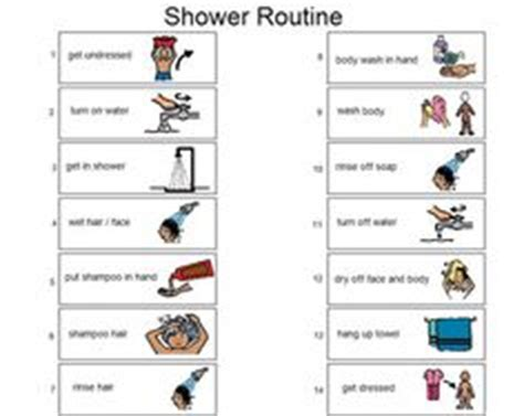 Shower Routine by 1000 Images About Boardmaker On Chapel Hill Icons And Schools