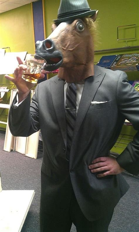 girl wearing horse head mask 56 best images about i
