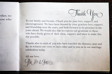 thank you letter after wedding for parents wedding thank you card wording that are meaningful