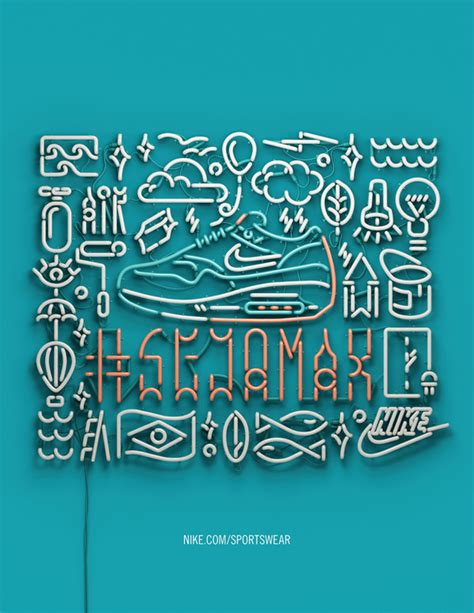 beautiful neon typography by rizon parein nike s 3d neon signs by rizon parein bldgwlf