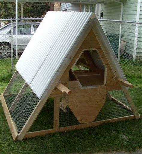 Chicken Coops A Frame Chicken Coop And Cheap Mobile On A Frame Chicken House Plans