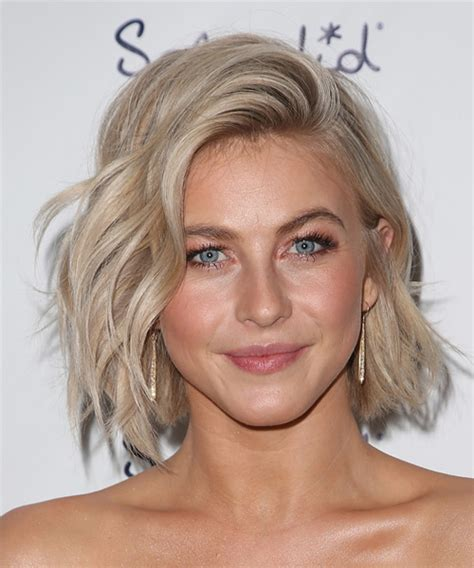 Julianne Hough Medium Wavy Casual Hairstyle   Light Blonde