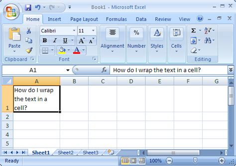 excel 2007 format cell text wrap ms excel 2007 wrap text in a cell