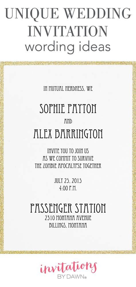 personalized wedding invitation wording sles 267 best images about wedding help tips on