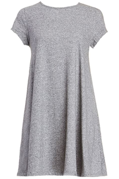 t shirt swing dress glamorous t shirt swing dress in gray dailylook