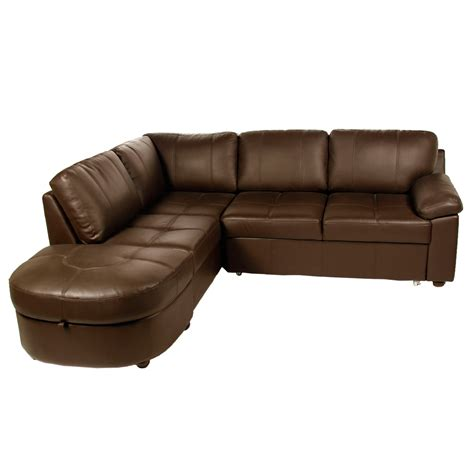 Real Leather Sofa Bed Amusing Real Leather Corner Sofa Bed With Storage 45 For Sofa That Turns Into Bunk Beds With
