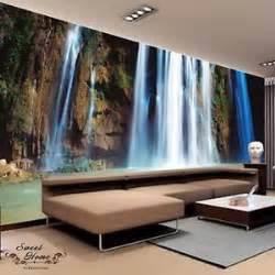 Oversized Wall Murals Natural Waterfall Rock Full Wall Mural Large Wall Print