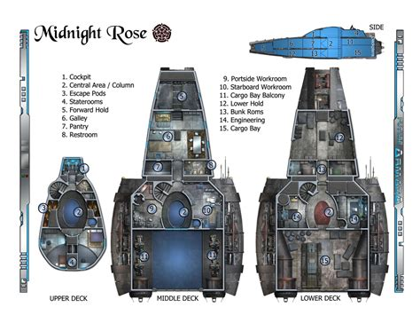 spaceship floor plan serenity rpg ship layout floor plans main deck plans