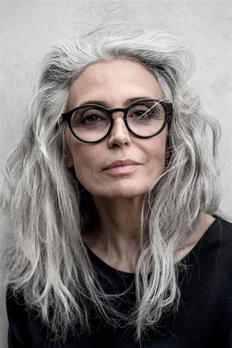 attractive eyeglasses for graying hair milva cocaine models management