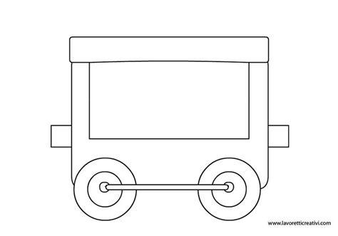 piumoni per bambini treno vagone2 veicoli sagome feltro e ritagli