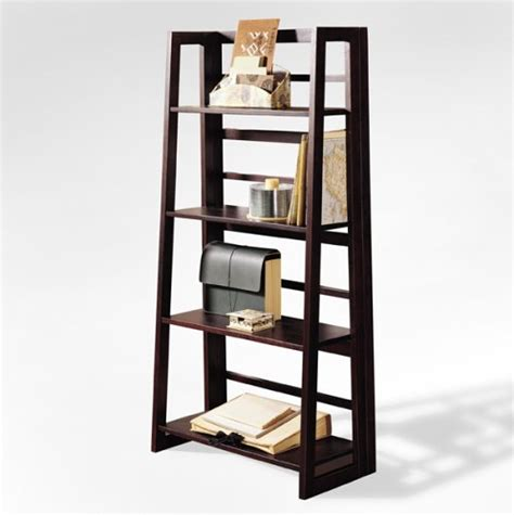 cheap dolce 4 shelf folding bookcase walnut sale
