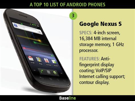 list of android phones a top 10 list of android phones mobile and wireless news reviews baseline