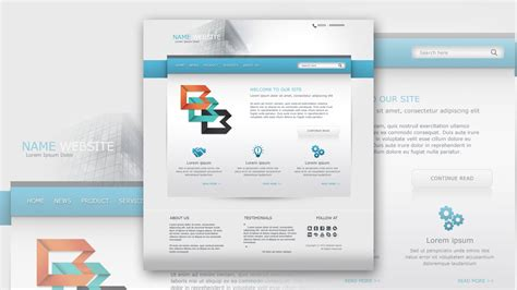 tutorial web design xp photoshop tutorial web design clean and simple business