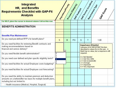 requirements gap analysis template hr software requirements identification fit gap analysis