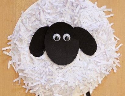 Sheep Paper Plate Craft - paper plate crafts how to make a paper plate sheep