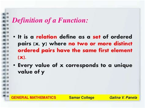 define general pattern in math general mathematics module 1 review on functions