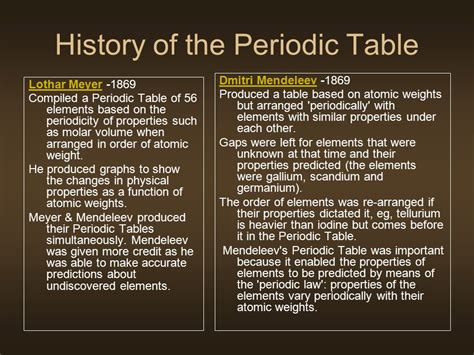 history of the periodic table metals been extracted and used for many thousands of
