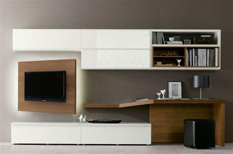 porta tv orientabile parete parete attrezzata 528 con scrittoio e porta tv orientabile