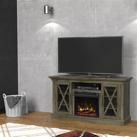 barn door electric home decorators collection chestnut hill 56 in tv stand