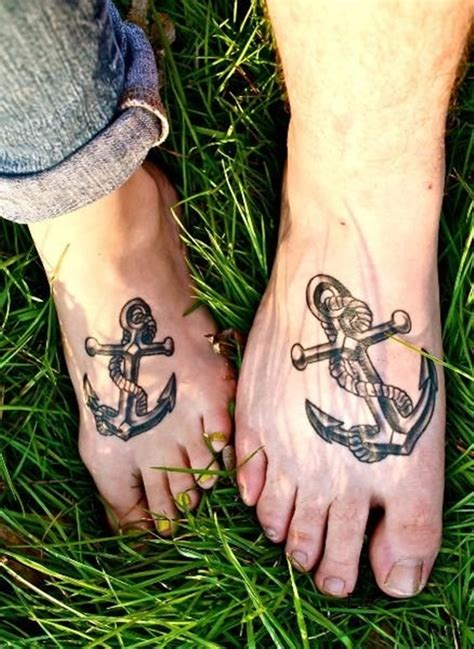 matching foot tattoos 100 appealing anchor designs and ideas for and