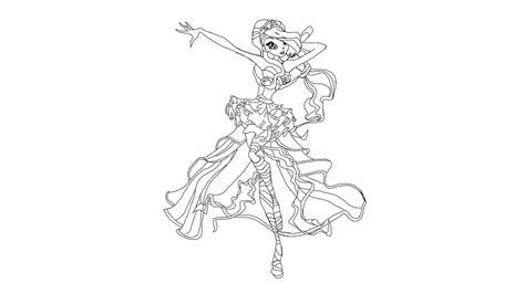 winx club bloom harmonix coloring page jad deviantart