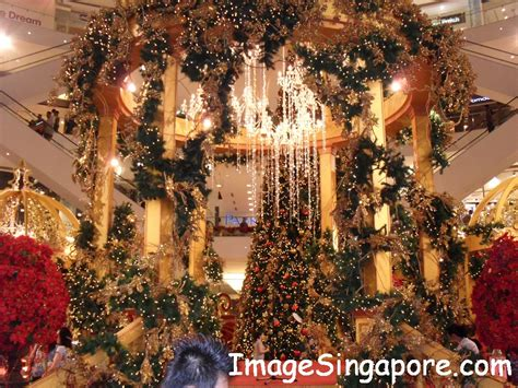 christmas decorations at shopping mall beginningless