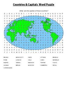 printable word search countries of the world esl english vocabulary printable vocabulary exercises
