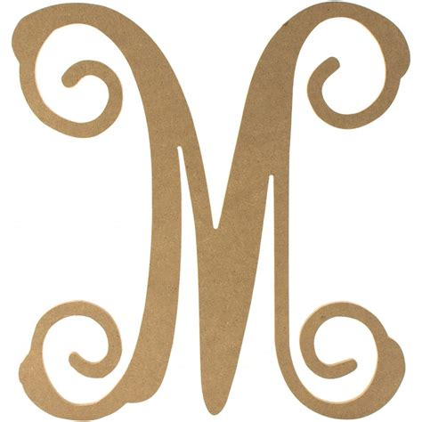 a wooden l 12 quot wood letter vine monogram m ab2208 craftoutlet com