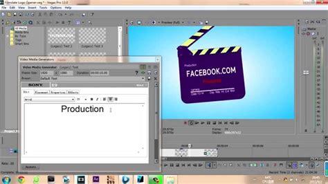 sony vegas pro template free free sony vegas pro 12 template filmslate logo opener