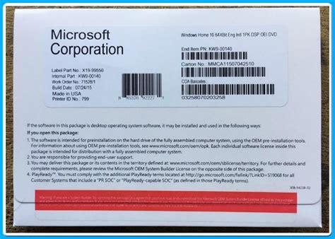Sofware Windows 10 Home 64bit Oem microsoft windows 10 pro software home 32bit 64 bit dvd