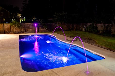 Nice Backyards by Fiberglass Pool Lighting Des Moines Iowa