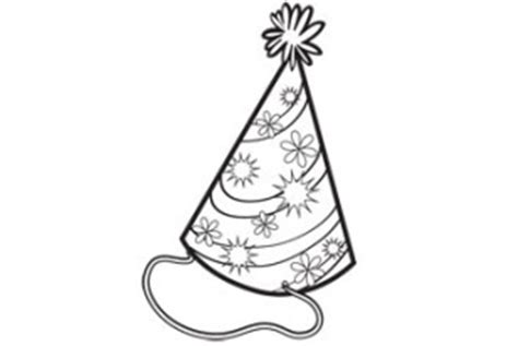 coloring page party hat coloring activity pages party hat coloring page