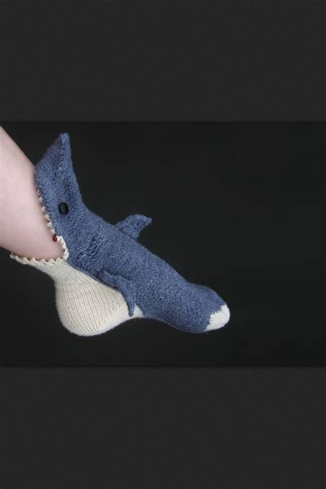 knit shark socks pin by nobleknits on shark week knitting